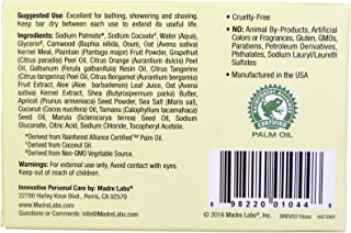 Madre Labs Exfoliating Soap Bar with Shea Butter, Marula - Tamanu and Citrus 141 g