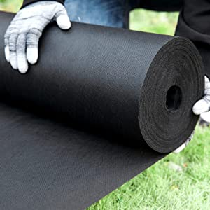 N\C Nonwoven Weed Barrier Landscape (3ft x 50ft) 3 oz Heavy Duty Commercial Non-Woven Weeding Cloth Durable Garden Landscape Fabric Easy Setup and Cut