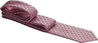Gravata rosé com detalhes em vermelho - Tradicional