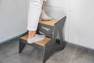 sgabello moderno per bambini Sgabello a due gradini per animali domestici sgabello da bagno sgabello da cucina in legno