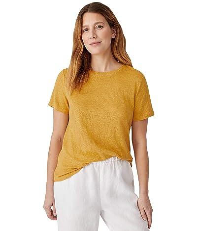 Eileen Fisher Organic Linen Jersey Round Neck Tee