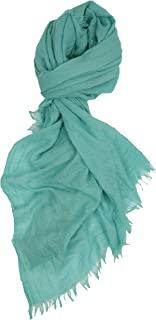 Love Lakeside Solid Color Cruise Wear Scarf Shawl with the Quality Look and Feel of Soft Cotton Linen