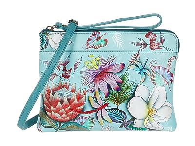 Anuschka Handbags Three-In-One Clutch 667 (Jardin Bleu) Handbags