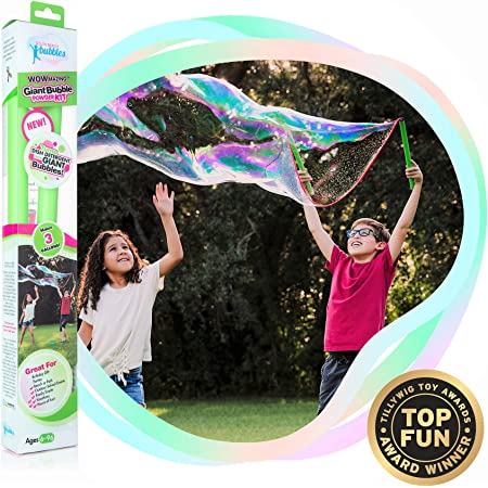 Magic Giant Bubble Kit Outdoor Jumbo Garden Toy Game Wand Maker Blower W6V0