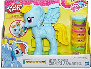 Play-Doh - My Little Pony - Rainbow Dash Style Salon inc 6 Tubs & Accessories - Kids Toys - Ages 3+