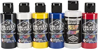 Wicked Colors W101-00 2-Ounce Wicked Primary Set Airbrush