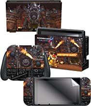 """Controller Gear Nintendo Switch Skin & Screen Protector Set, Officially Licensed By Nintendo - Super Mario Kart 8 """"Bowser's Castle"""" - Nintendo Switch"""