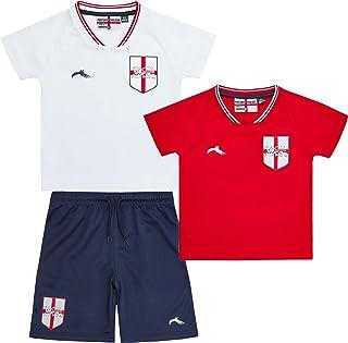 Kids Infant Boys England Football Soccer T-Shirts Short 3 Pieces Kit Set
