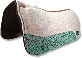 "Southwestern Equine OrthoRide Elite Premium Tan Topper and Chocolate Wool Bottom 1"" Saddle Pad"