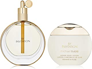 Michael Buble By Invitation for Women 2 Piece Set Includes: 3.4 oz Eau de Parfum Spray + 5.1 oz Luxury Body Lotion