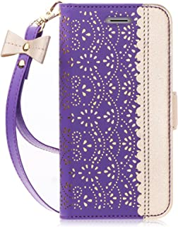 Note 8 Case, Galaxy Note 8 Case, WWW [ Mirror Series] PU Leather Case Kickstand Flip Case with Card Slots and Mirror for Samsung Galaxy Note 8 Purple