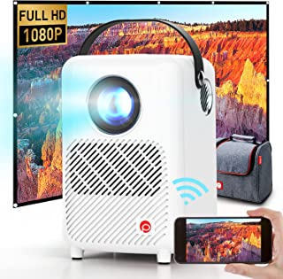 Mini Projector, Pixthink M1 Full HD 1080P Projector with...