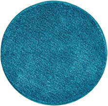 mDesign Soft Microfiber Polyester Non-Slip Round Spa Mat/Runner, Plush Water Absorbent Accent Rug for Bathroom Vanity, Bat...