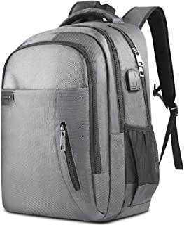 KUSOOFA Backpack with USB Charging Port Headphone Interface Fits17.3Inch