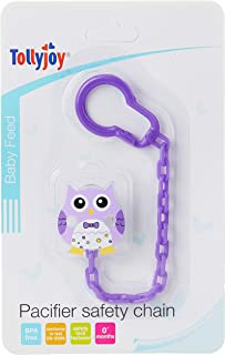 Tollyjoy Baby Pacifier Chain, Owl, Purple ,24g