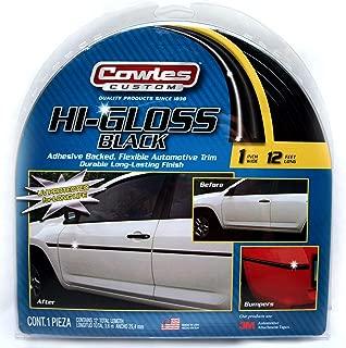 Cowles S37201 Black Custom Hi-Gloss Trim for Cars, Trucks and SUVs