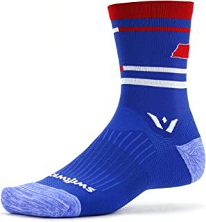 Swiftwick- VISION FIVE | Running and Cycling Socks for Men and Women | Fast Dry, Cushioned, Crew