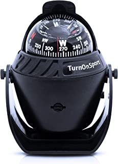 Boat Compass Dash Mount Flush - Boating Compass Dashboard Suction - Navigation Marine Compass Boats Surface Mount - Illuminated Dashboard Compass Ship - Electronic Sea Compass Suction Cup