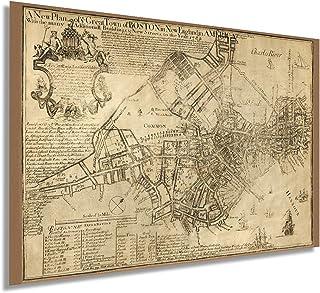 1769 Boston in New England in America 16x24 Inch