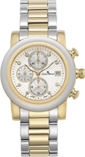 Giorgio Milano Womens WatchTalia Chronograph Watch with Date. Stainless Steel Round case.Dial with Swarovski Crystals Marks. Stainless Steel Bracelet.