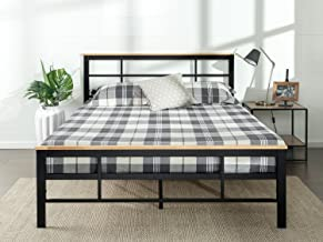 Zinus Marcia Urban Metal and Wood Platform Bed, Full
