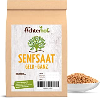 vom Achterhof 1 kg Senfsaat Senfkörner gelb Senfsamen natürlich vom-Achterhof
