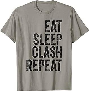 Mens Gaming Clan - Eat Sleep Clash Repeat Vintage T-Shirt