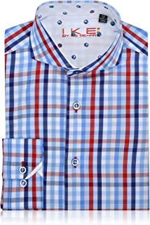 Sizes 4-20 Ike Behar Boys Multi Color Stripped Dress Shirt Long Sleeve Button Down