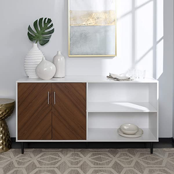 WE Furniture AZ58BMHPASSW TV Stand 58 Solid White