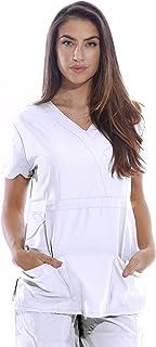 2fd3bc93e99 Dreamcrest Ultra Soft Women's Scrub Tops/Medical Scrubs/Nursing Uniforms