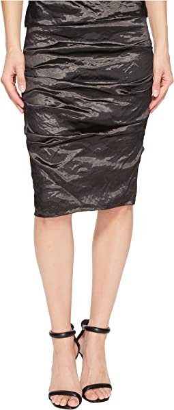 Nicole Miller - Sandy Techno Metal Skirt