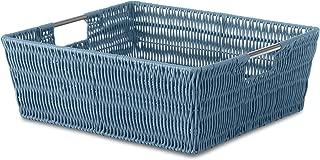 Whitmor Rattique Shelf Tote Berry Blue