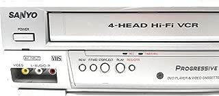 Sanyo DVW-7200 DVD/VCR Video Cassette Recorder Combo, 4-Head Hi-Fi VCR Stereo Video Cassette Recorder VHS Player w/ Dolby Digital, Progressive Scan, Compact Disc Digital Audio (Renewed)