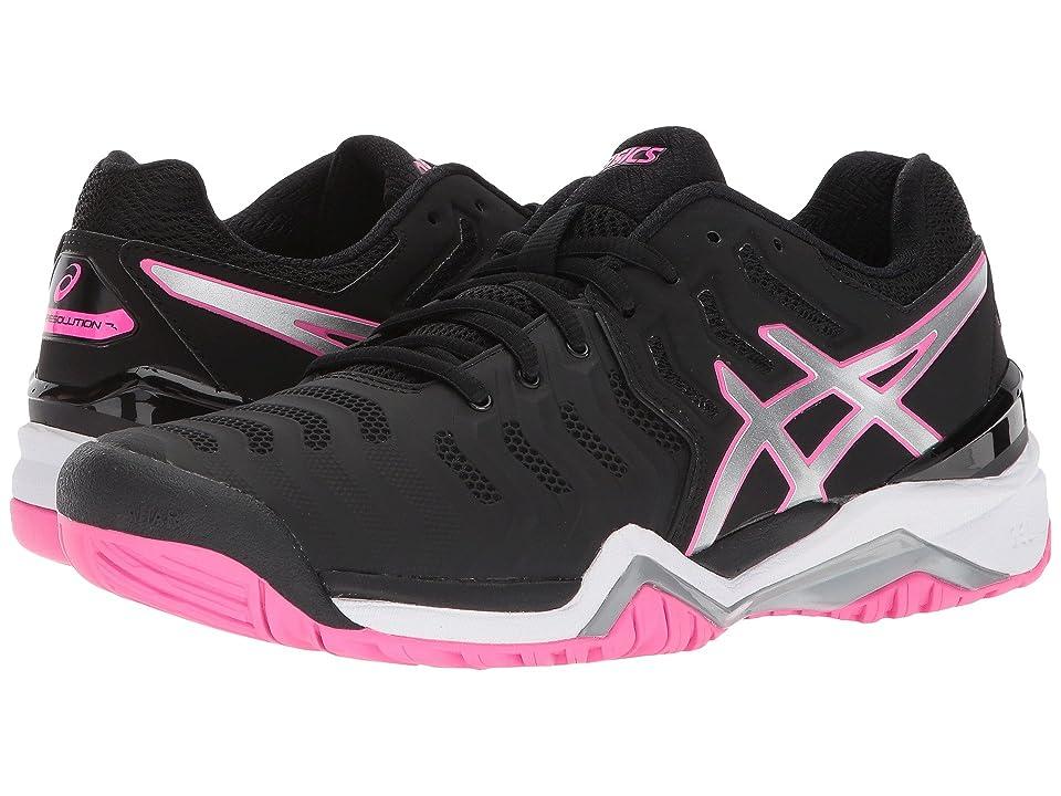 ASICS Gel-Resolution 7 (Black/Silver/Hot Pink) Women