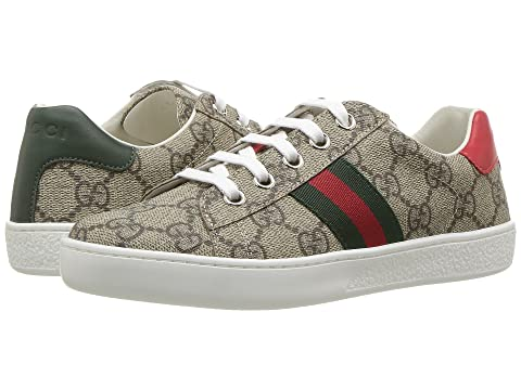 339c1689c09 Gucci Kids GG Supreme Low-Top Sneakers (Little Kid) at Luxury.Zappos.com