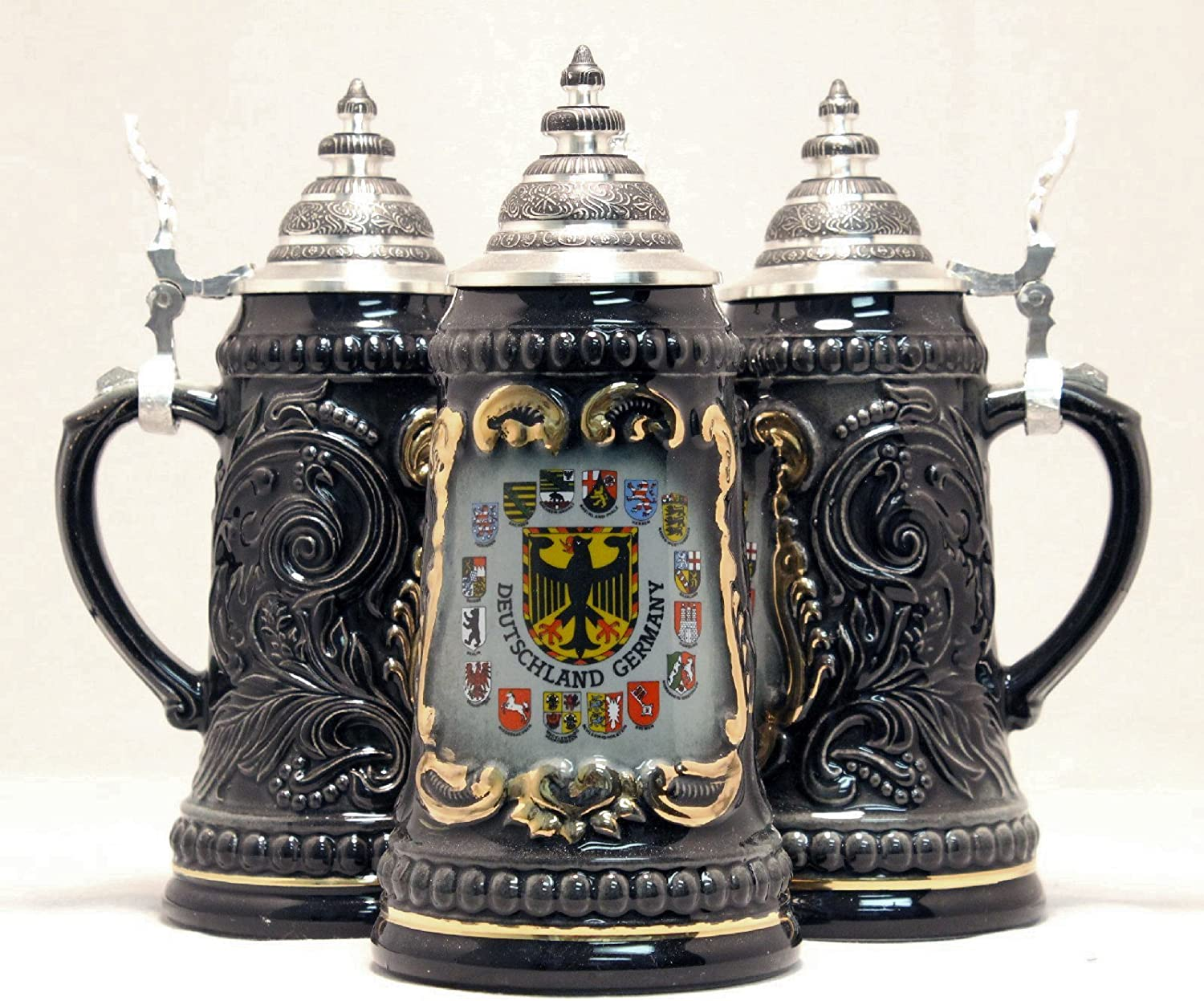Deutschland Germany Eagle with State Beer Stein latest New popularity .5 German Crests