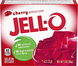 Jell-O Cherry Gelatin Mix (3 oz Boxes, Pack of 6)