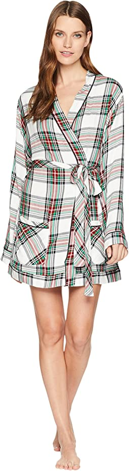 Ultra Soft Plaid Robe