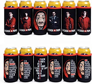 Slim Can Koozie for 12 Oz White Claw Can Koozie Cute Neoprene Can Cooler Insulators 6 pcs