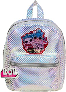LOL Surprise Small Mini Backpack for Girls with Shiny Silver