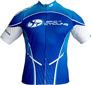 Bend It Cycling Deep Sea Blue Recumbent Jersey