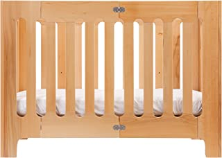 Bloom Alma Papa Modern Folding 3-in-1 Convertible Crib in Natural