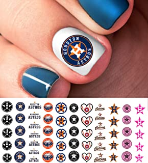 Houston Astros Baseball Waterslide Nail Art Decals - Salon Quality
