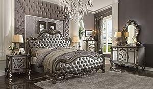 Inland Empire Furniture Versailles II Platinum Eastern King Formal Bed