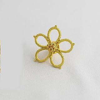 金箔レースアクセサリーGold knot「夜想曲(ノクターン)」ピンブローチ