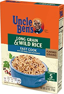 UNCLE BEN'S Flavored Grains: Long Grain & Wild Fast, 6.2 Oz, Pack of 12