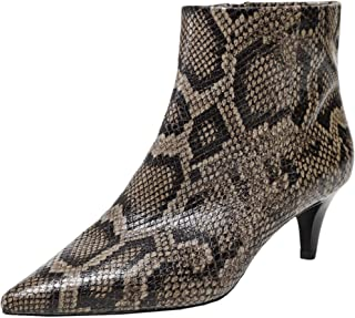 ASH Women's Leather Cameron Snake Effect Boots Brown