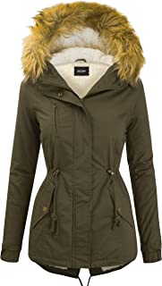 Women's Zip Up Safari Military Anorak Jacket with Hood Drawstring – Regular..