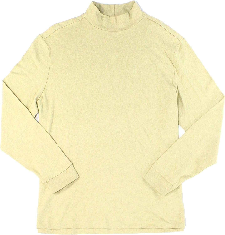 JOHN ASHFORD Heather Mens Long Sleeve Mock Neck Shirt Beige 2XL …