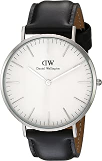 Daniel Wellington Men's Quartz Watch analog Display and Leather Strap, DW00100020